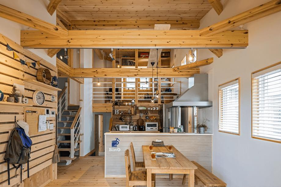 Japanese style wooden house