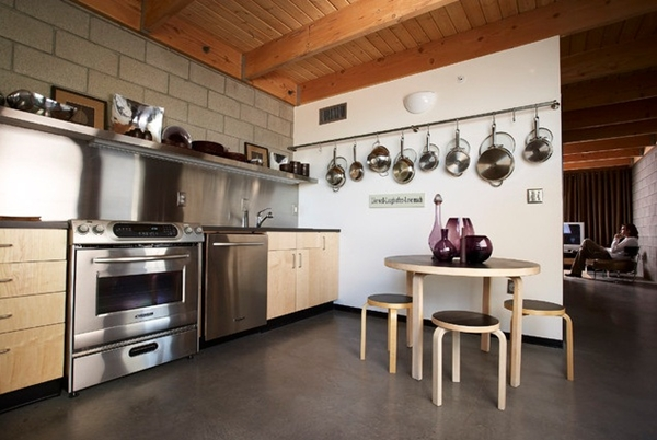 Decorate the kitchen in the Loft style